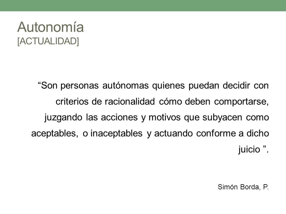 Autonomía [ACTUALIDAD]